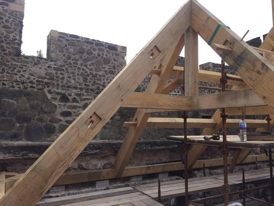 Hip Trusses Fitted
